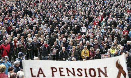 Protesta de pensionistas frente al Congreso (2018)