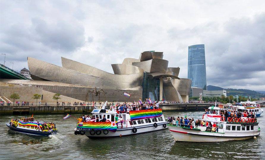 Desfile GTB+ fluvial en Bilbao Pride 2018