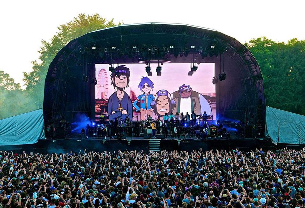 Gorillaz en concierto