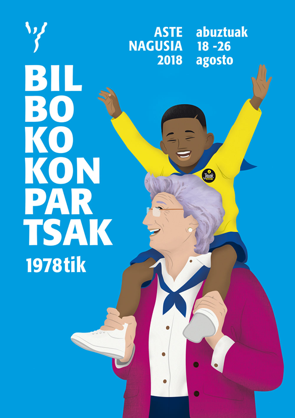 Cartel de las comparsas de Bilbao (2018)