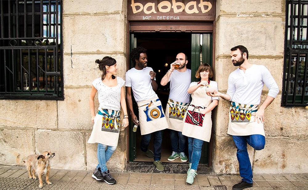 Bar tetería Baobab, en Bilbao