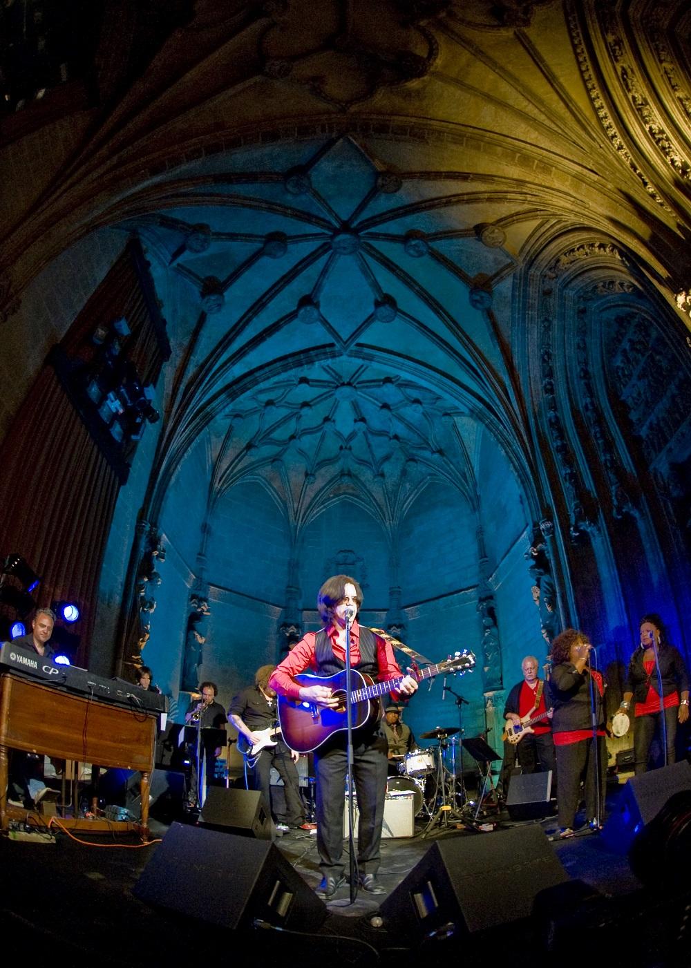 Mike Farris, en la catedral de Vitoria