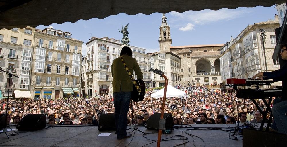 Mike Farris en Vitoria