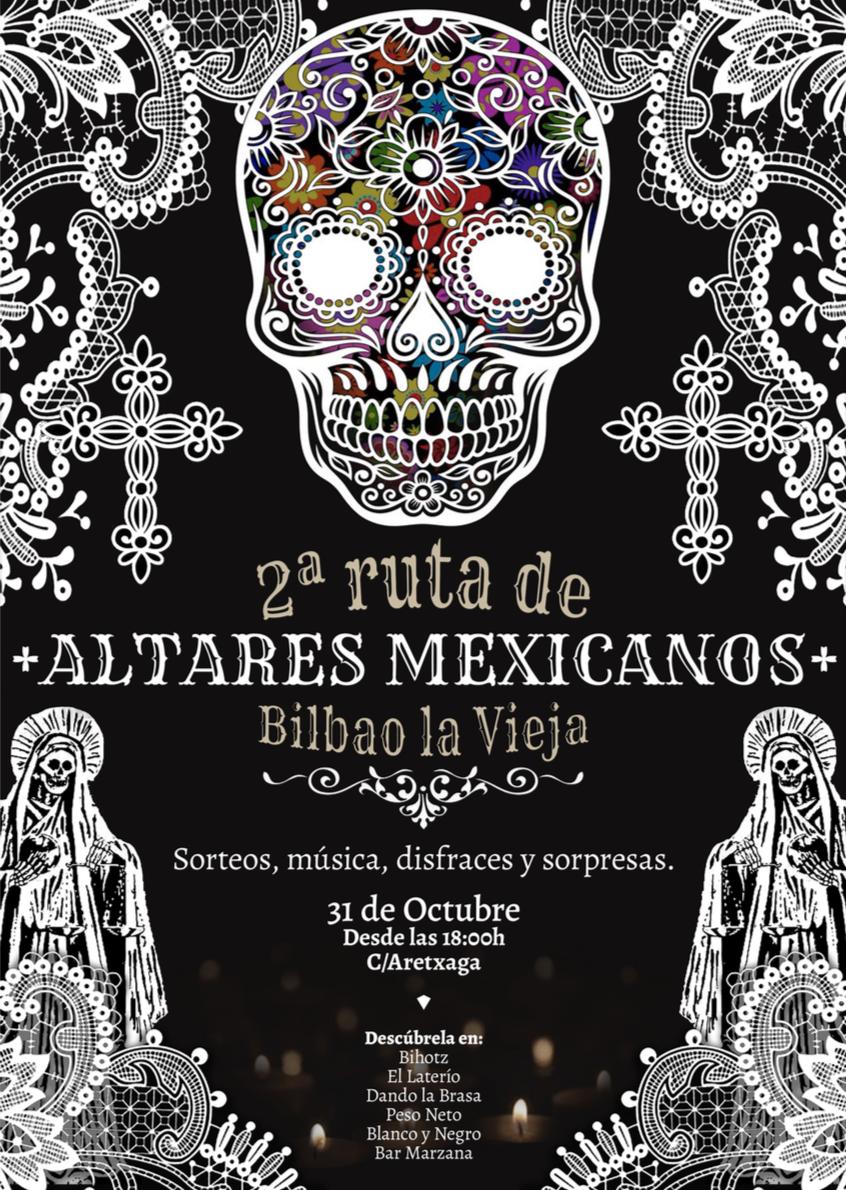 2ª ruta de altares mexicanos en Bilbao la Vieja (2018)