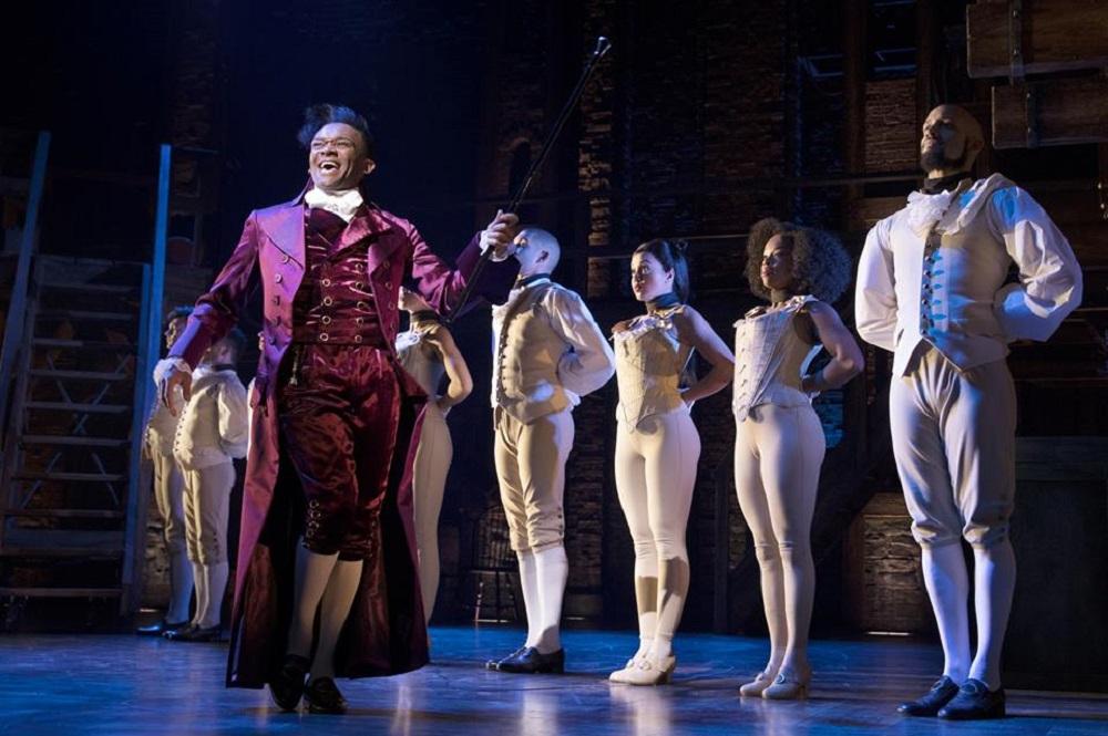 "Escena del musical ""Hamilton"""