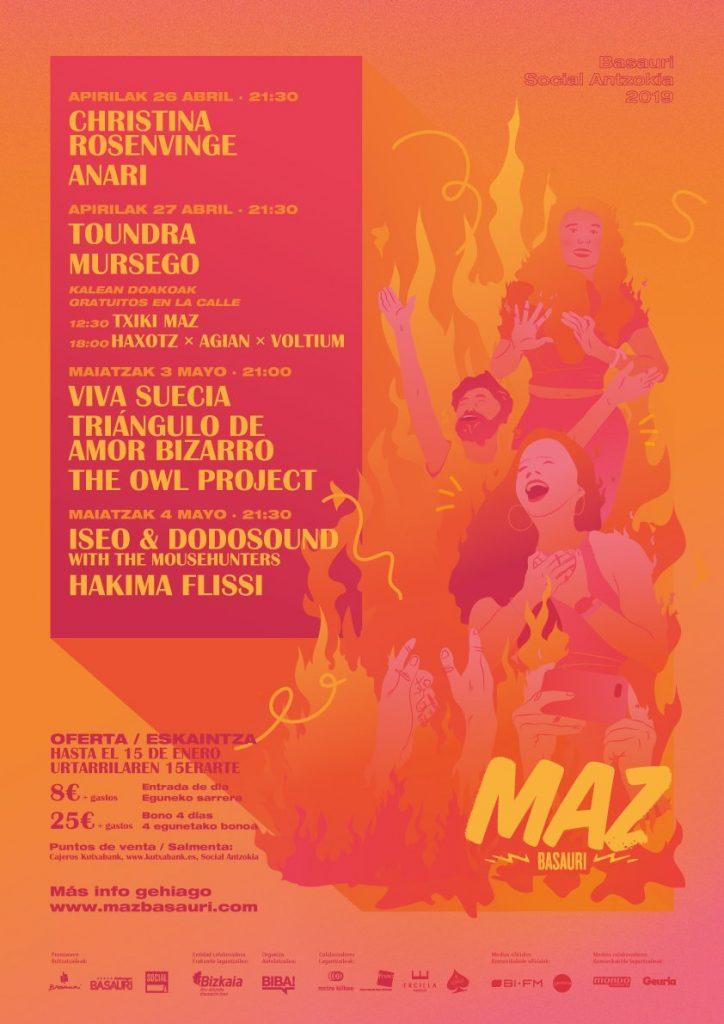Cartel de MAZ Basauri 2019