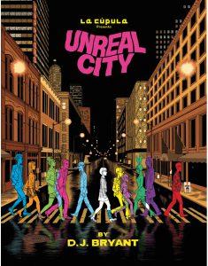 "Portada del cómic ""Unreal City"""