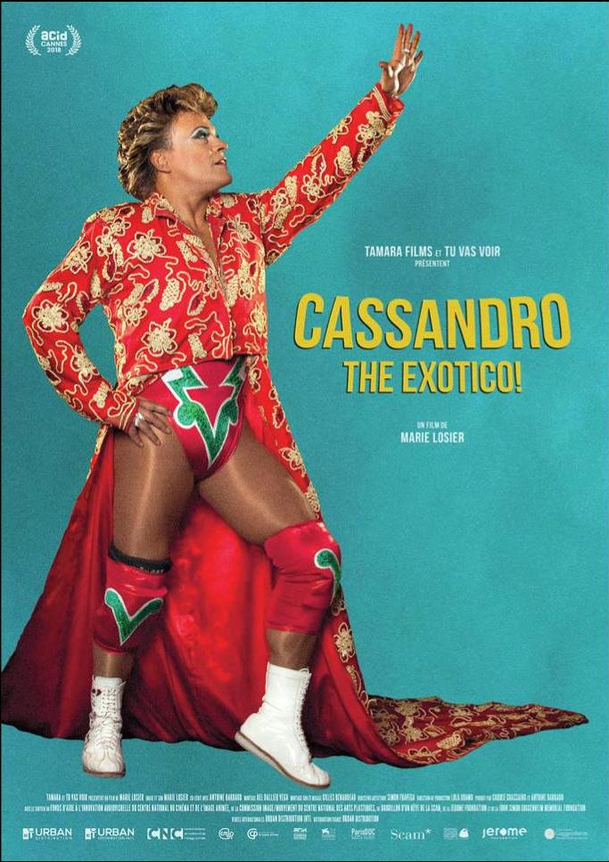 """Póster del documental """"Cassandro The Exotico!"""""""