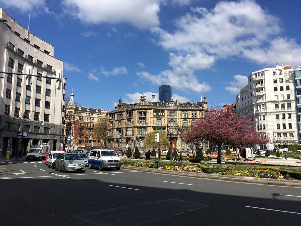 La plaza Moyua, en Bilbao