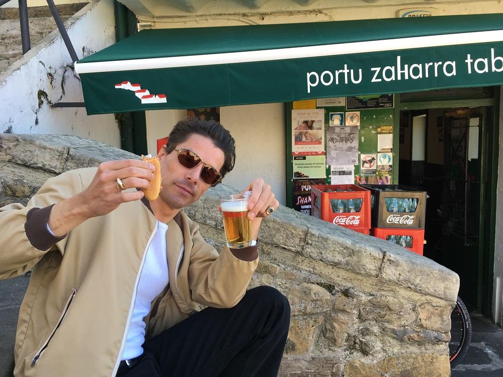 John Franks (Smile) en el Puerto Viejo de Algorta (Getxo)