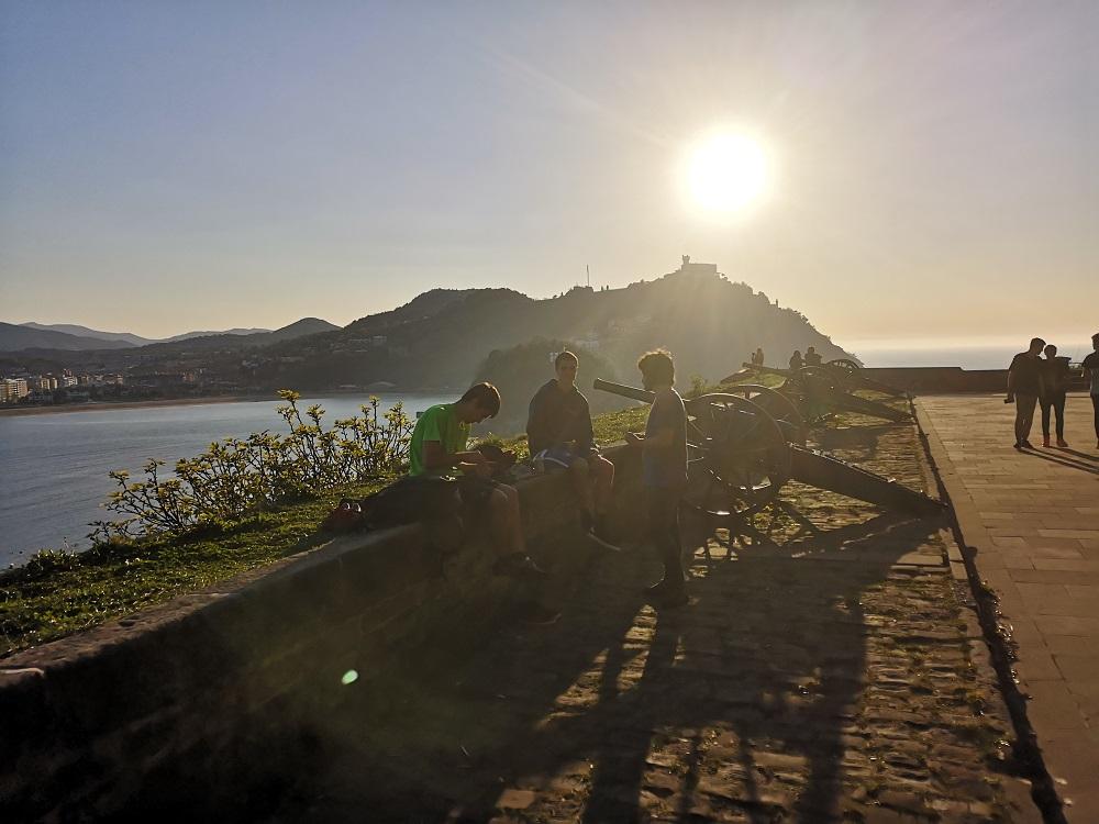 La Batería de Damas del monte Urgull (Donostia