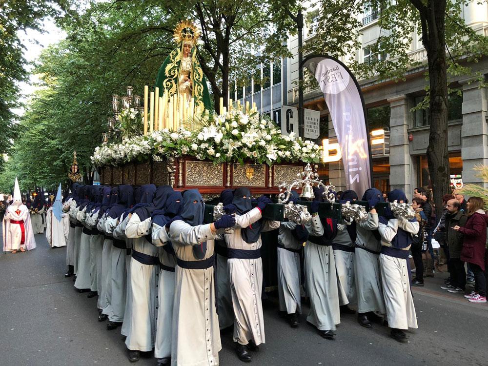 Procesión de La Esperanza en Bilbao