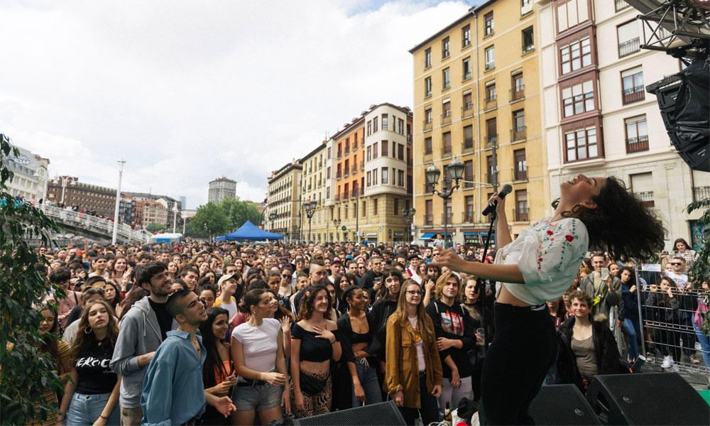Nathy Peluso en Hirian 2018 (Bilbao)