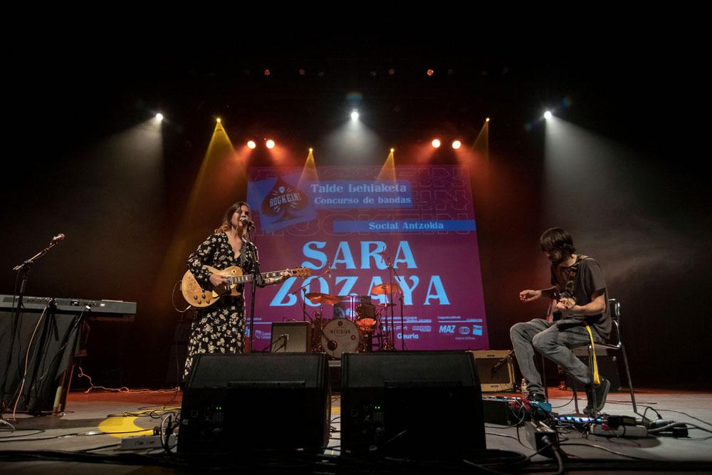 Sara Zozaya en la final del concurso Rockein 2019 // David Mars