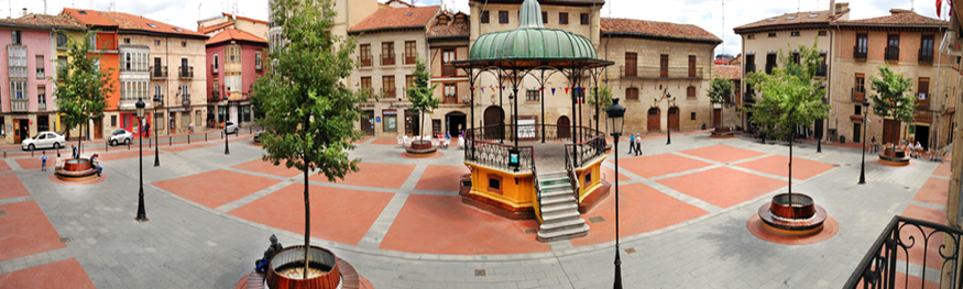 La Plaza de España de Miranda de Ebro