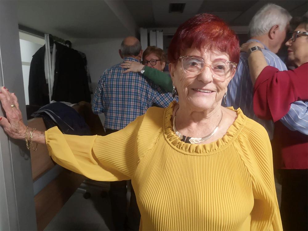 María Luisa, en la pista de baile