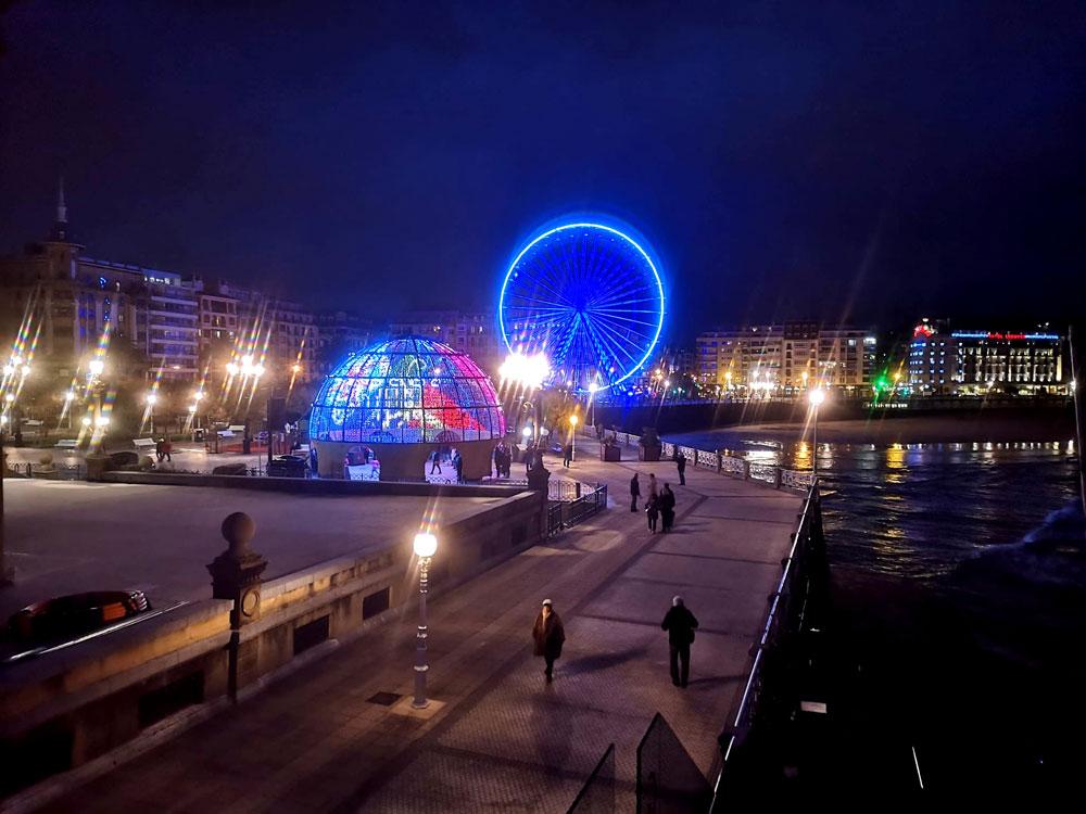 Luces de Navidad en San Sebastián (2019)