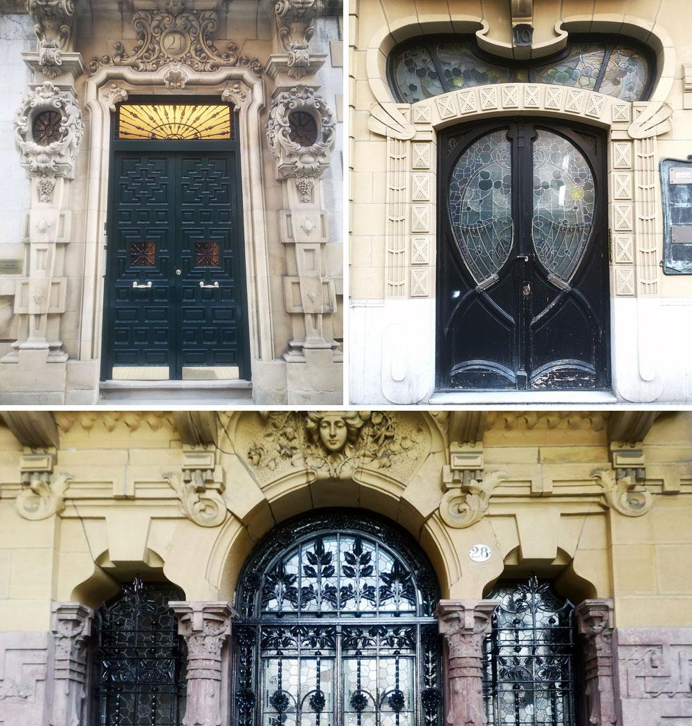 Portales de la calle Prim (Donostia)