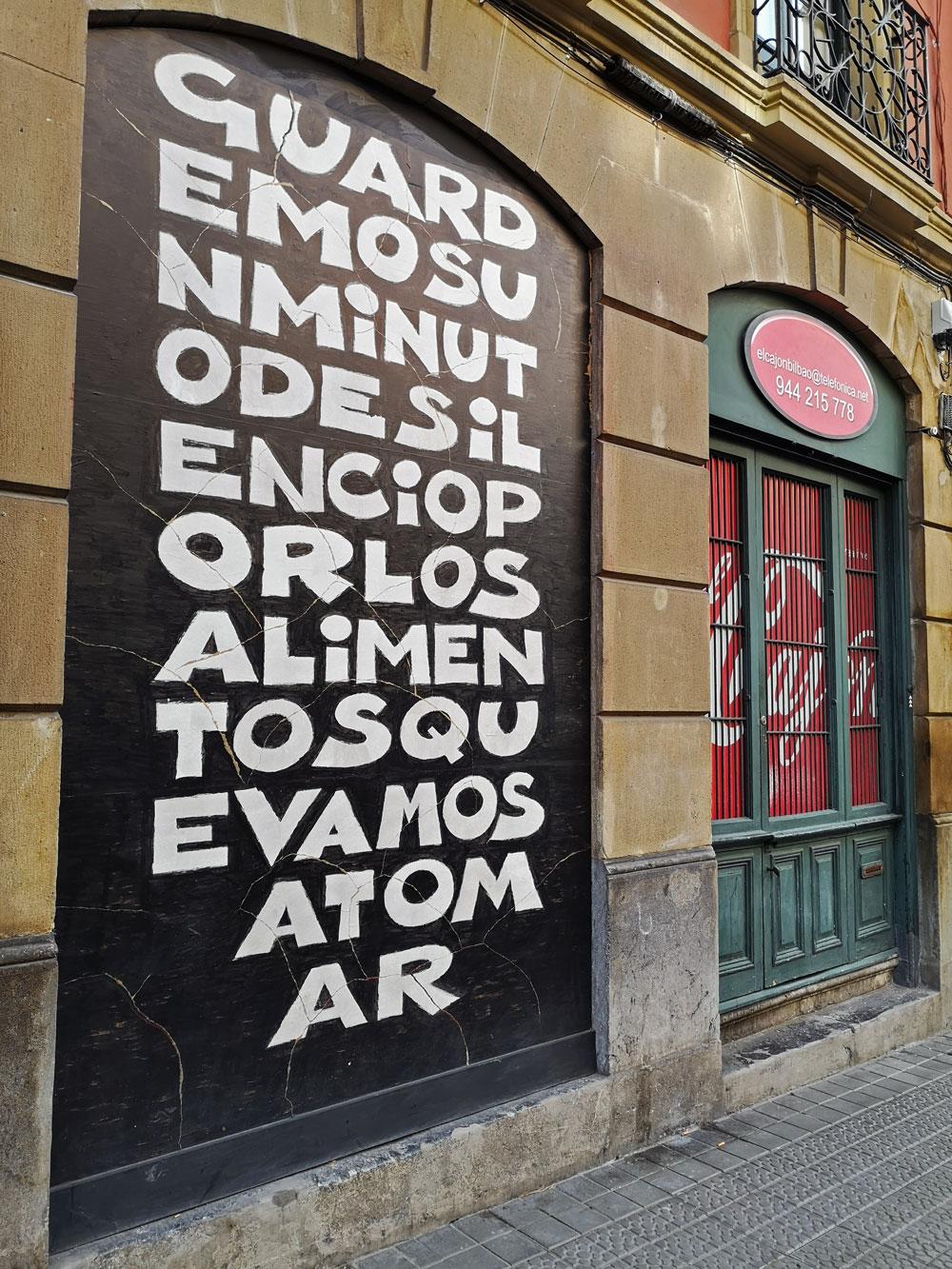 El Cajón, escaparatistas en Bilbao