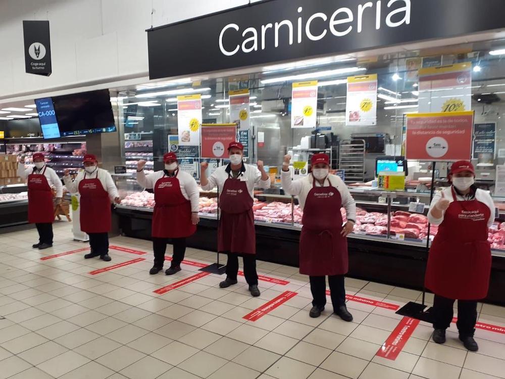 Supermercado durante la crisis del coronavirus