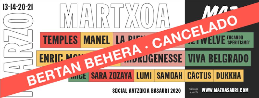 Cancelación MAZ Basauri 2020