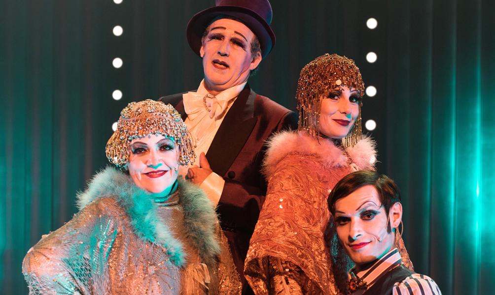 "El elenco de la obra ""Simplicissimus Cabaret"""