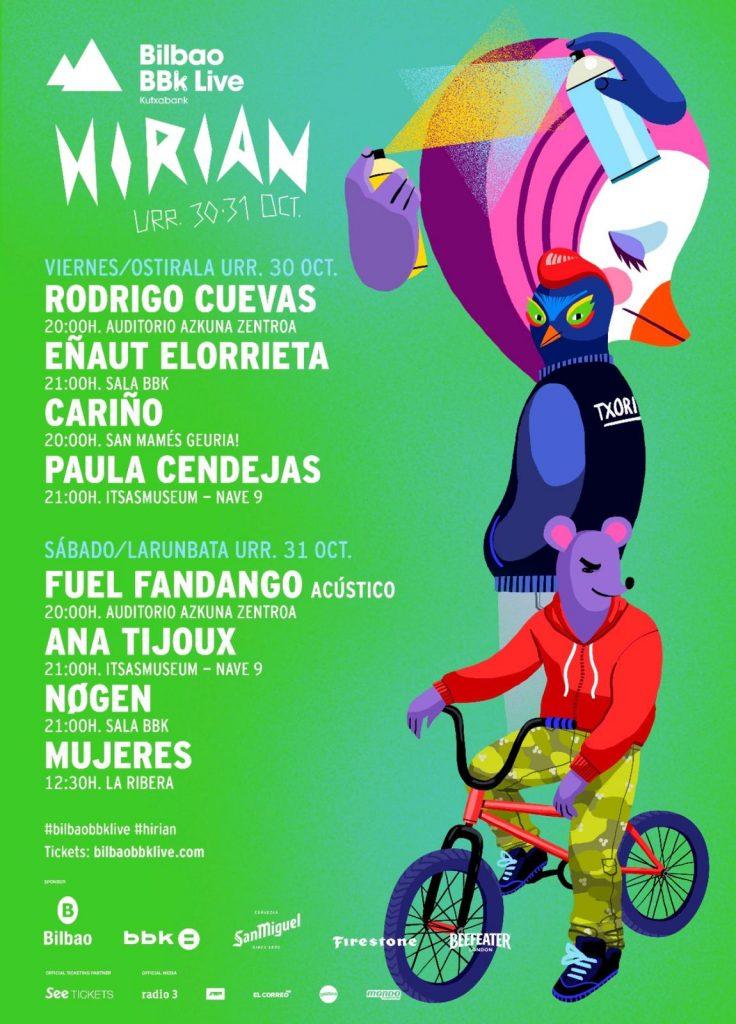 Agenda completa de Hirian Bilbao