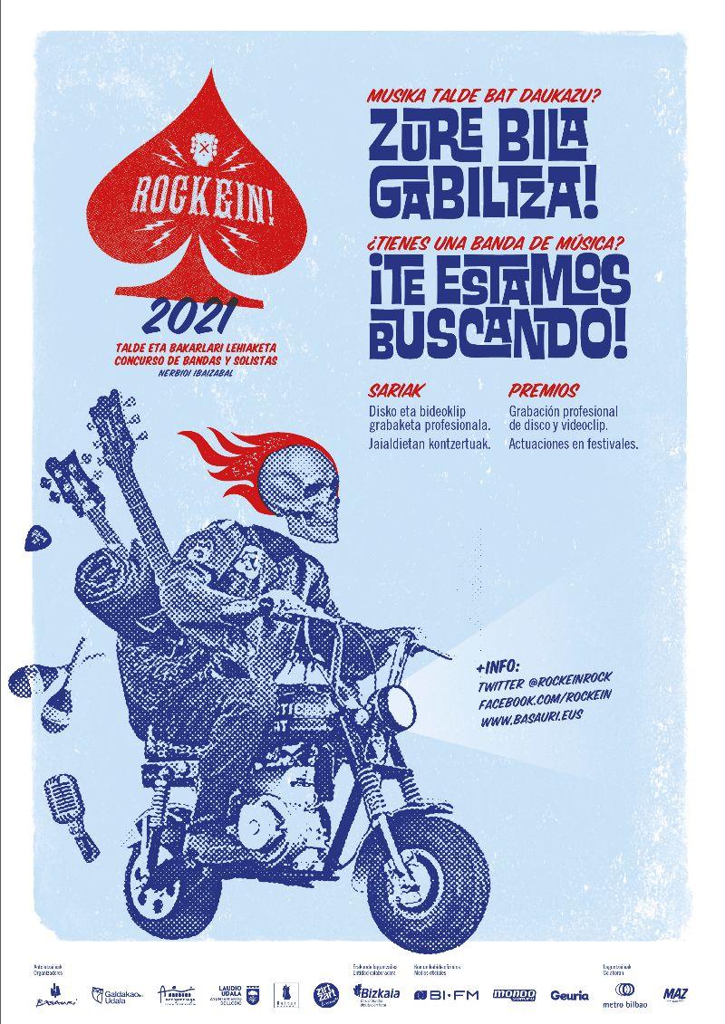 Cartel anunciador de la 9ª edición del concurso de bandas Rockein